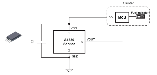 Figure 13: Angle Hall Sensor-Based Digital FLS Using A1330