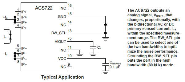 ACS722KMA Typical Application