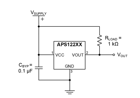 APS12200, APS12210, and APS12230 Typical Application