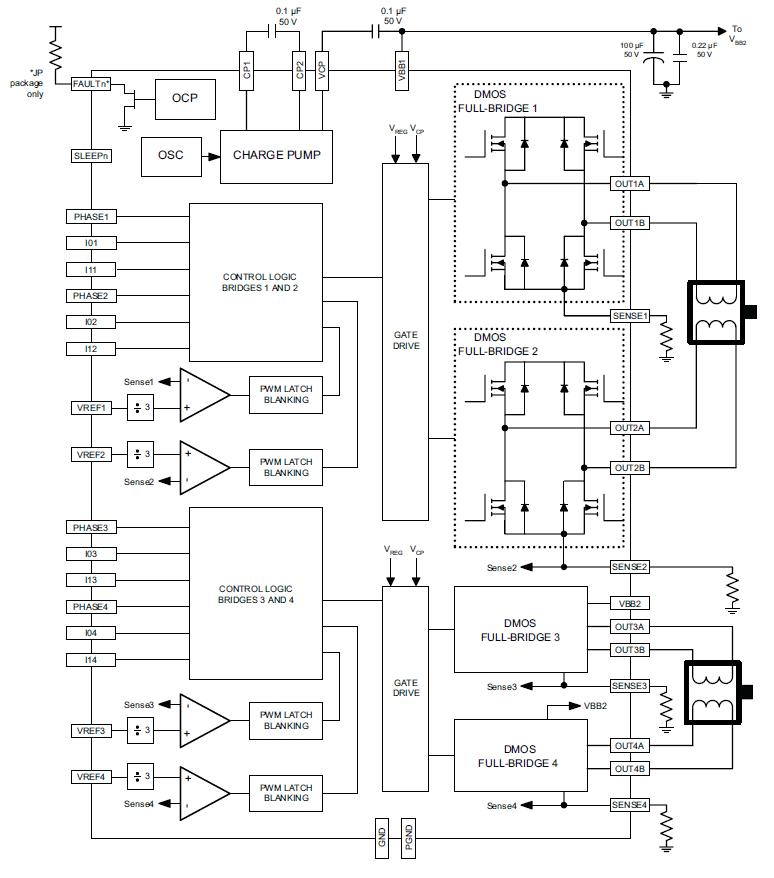 A5988 Quad DMOS Full-Bridge PWM Motor Driver
