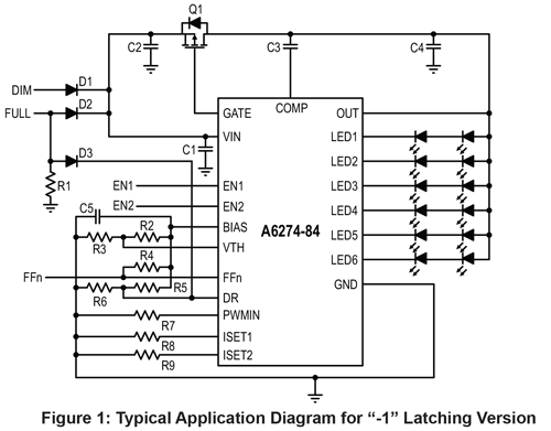 A6274 A6284 Typical Application