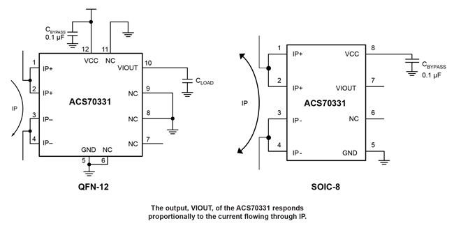 ACS70331 Typical Application
