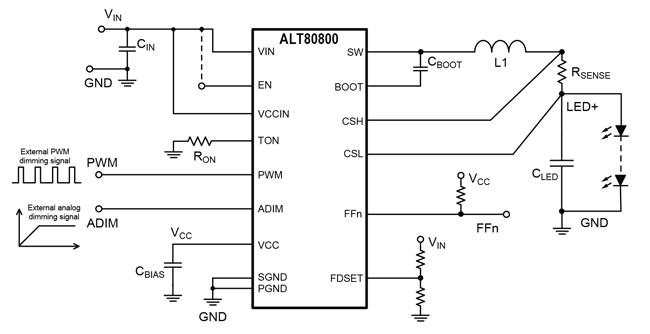 ALT80800 Typical Application