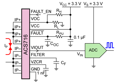 ACS716 typical application