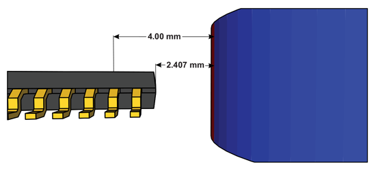 Figure 2: Crystal Air Gap versus Package Air Gap
