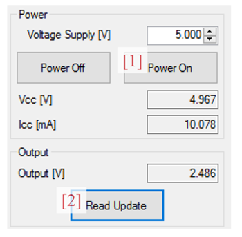 Figure 2: Power Panel from the A1365 Samples Programmer
