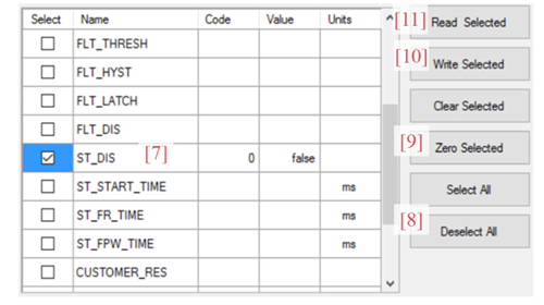 Figure 4: Self-Test Enable from the A1365 Samples Programmer