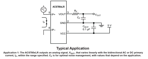 ACS780 Typical Application