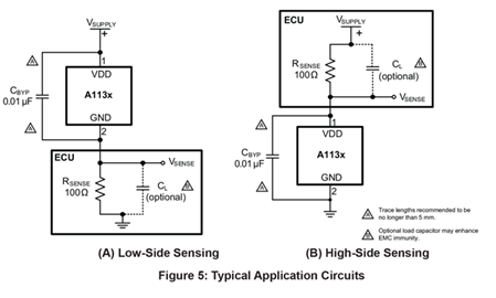 A1130-1-2 Typical Application