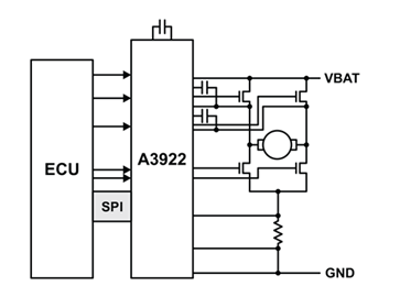 A3922 Typical Application