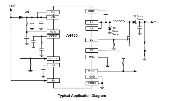 A4450 Typical Application