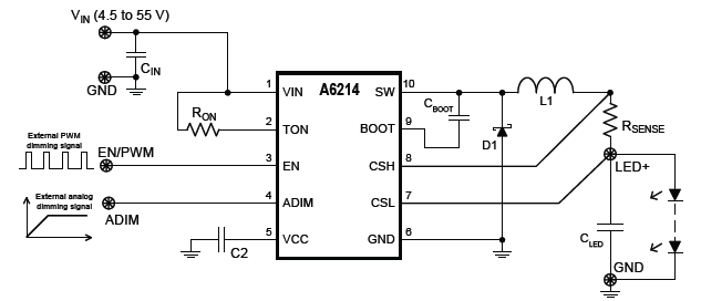 A6214 Typical Application
