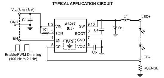 A6217  Typical Application
