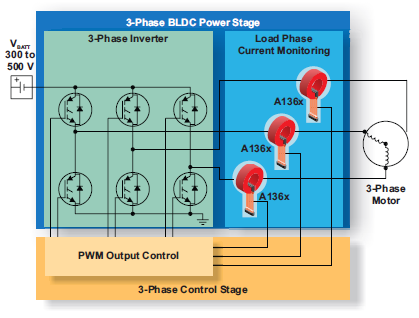 Allegro microsystems advanced hall effect linear current for Motor current sensing circuit