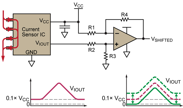 allegro microsystems shifting the offset voltage of current sensors rh allegromicro com Power Transducer Electrical Transducers