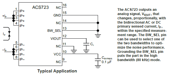 ACS723KMA Typical Application
