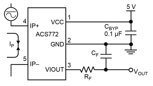 ACS772大电流霍尔电流传感器可以替换即将停产的ACS758