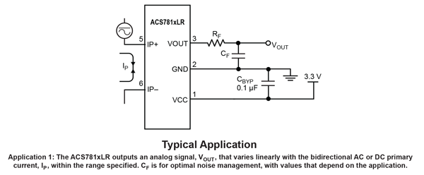 ACS781 Typical Application