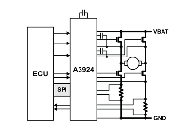 A3924 Typical Application