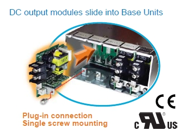 DC Output Modules Slide Into Base Units